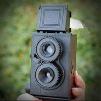 DIY Film Camera Kit Twin Lens Reflex TLR 35mm Classic Retro Lomo Film Camera Toy Gift for Children/ Students