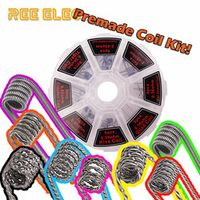 48pcs Alien Fused Tiger Clapton Coil Mix Twisted Flat Twisted Hive Quad Premade Coils Kit For RDA RTA Atomizer Prebuilt Coil