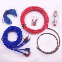 DQ Car Audio Amplifier Subwoofer Speaker Installation Wires Kit 8GA Power Cable