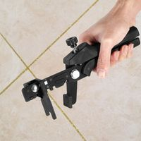 1Pc Adjustable Tile Locator Durable Black Floor Pliers Locator Leveling System Tiling Installation Tools
