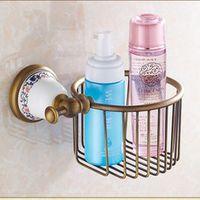 Vintage Creative Ceramic Design Antique Bronze Toilet Paper Holder/Bronze Paper Towel Holder,Roll Holder&Bathroom Storage Basket