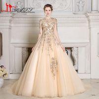 Liyatt Vintage Prom Dresses Long Sleeves Evening Dress