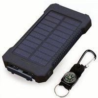 emie Solar Power Bank Waterproof 30000mAh 2 USB Ports External Charger Powerbank