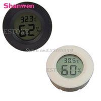 Shanwen Digital Cigar Humidor Hygrometer Thermometer Round Face New G08 Drop ship