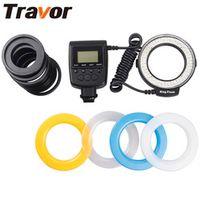 Travor Macro LED Ring Flash 48pcs RF-550E Old Minolta shoe For Sony A500 A200 Camera
