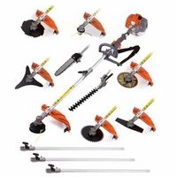 chikura Multifunctional 52cc engine 12 in 1 Petrol Hedge Trimmer Chainsaw brushcutter