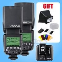2PCS Godox V860II V860II-C E-TTL 2.4G Li-ion Flash Speedlite X1T-C for Canon