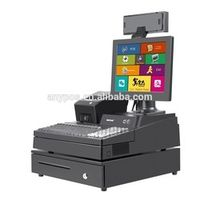 Meetsun 12 inch cash register system with vfd pole display drawer thermal printer