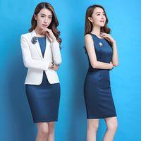 Women's Spring 2018 Elegant Office Ladies's Blazer Dress
