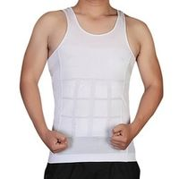 Hot Men Shaper Vest Body Slimming Tummy Belly Waist Girdle Shirt Shapewear Underwear H34