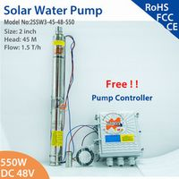 MARS ROCK 2inch 550W 48V DC Brushless solar water pump submersible pump for