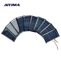Aoshike 10Pcs Solar Panels Battery Power Charging Solars DIY Electric Toy Materials