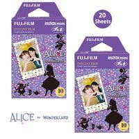 Fujifilm Instax Mini Color Film 20 Prints 2 Packs Alice in Wonderland Fuji Instant