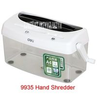 9935 4L Mini Manual Del A4 Desktop Shredder Cutting Attachment For Card and Credit Card and CD Sheet 1/Shred Shredding 3 *23MM