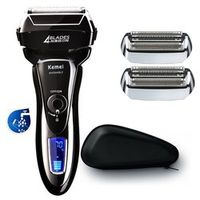 4 blade professional wet&dry shaver rechargeable electric shaver for men beard face electric razor shaving machine+travel bag