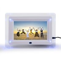 "FUJIARY 7"" TFT-LCD Multi-functional Digital Photo Picture Movie Frame MP3 MP4 Clock"