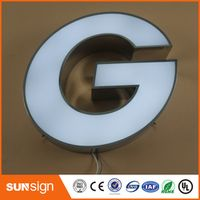 shsuosai Custom Front door designs frontlit 3d led letter