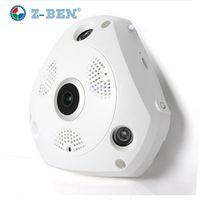 5pcs/Lot 360 Degree Panoramic IP Camera Fisheye WIFI CCTV Cam Video P2P 960P  Audio For Home Ofiice Security Remotely Monitori