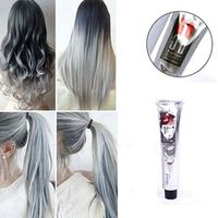 ALIVER Fashion Light Gray Color Hair Dye Cream Permanent 100ML