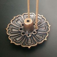 1PCS Lotus Flowers Pattern Incense Burner Stick Holder Base