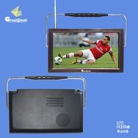 12V DC 9 inch portable TV with built-in tunner DVBT,DVB-T,DVB-T2 transmitter receiver built-in digital TV