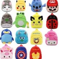 Monssjay Kids Cartoon plush child Backpack schoolbag little