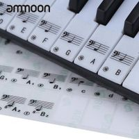 ammoon Transparent 49/61 Electronic Keyboard 88 Key Piano Stave Note Sticker