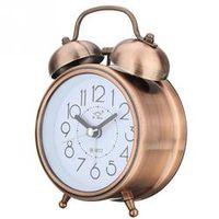 HOUSEEN Alarm Clock Vintage Retro Silent Pointer Round