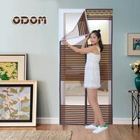 Magic Hands-free Screen Door High Quality Mesh Summer magnetic Curtains Net Mosquito window Polyester Door 90*210/100*210cm