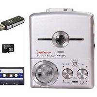 GRITZEST Audio Cassette Support USB Flash Disk TF Card MP3 Files with Built-in