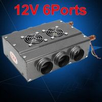 Mayitr 12V 6 Ports Universal Double Side Copper Iron Compact Car Heater With Speed
