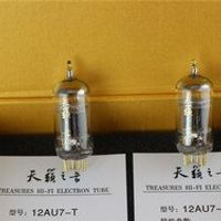 PSVANE 2pcs matched pair 24k gold plated top rank shuguang electron vacuum tube 12au7