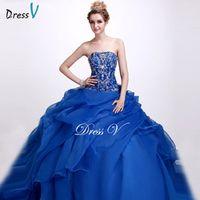 Dressv ball gown floor length quinceanera dress