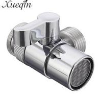 Xueqin Home Bathroom Kitchen Basin Sink Faucet Brass Diverter Polished Chrome Water