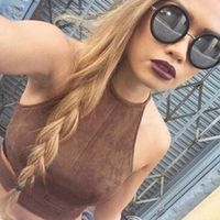mokingtop Summer Vintage Brown Faux Leather Suede Women