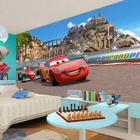Custom 3D Stereo Cartoon Racing Cars Photo Wallpaper for Children's Room Kindergarten Bedroom Wall Decorate Non-woven Wall Paper
