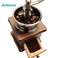 Artence Classical Wooden Manual Coffee Grinder