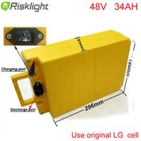 Risklight Rechargeable 13S10P 48volt lithium battery pack electric bike battery 48v