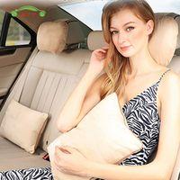 QYJSD Back Waist Support Cushion Biological Velvet Seat Lumbar Massage Pillow