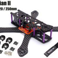 REPTILE Martian II 2 180 / 220 / 250 180mm 220mm 250mm 4mm Arm Thickness Carbon Fiber Frame Kit w/ PDB For FPV Racing