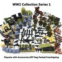 koolfigure WW2 Military DIY Toys Set Army Soldiers SWAT CS
