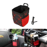 sikeo Car Air Vent Mount Net Storage for Mobile Phone Sunglasses Pen Ticket Card Auto