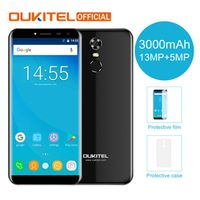 "Oukitel C8 5.5"" 18:9 Infinity Display Android 7.0 MTK6580A Quad Core 2G RAM 16G ROM"