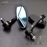 """black universal Motorcycle Bar End rearview Mirrors 7/8"""" For BMW Ducati Aprilia"""