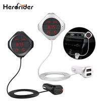 Herorider Wireless Bluetooth Fm Transmitter Dual USB Charger Handsfree Car Mp3 Player