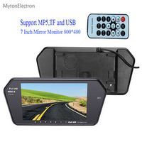 "MytonElectron 800x480 7"" Color LED Car Rear view Mirror MP5 USB TF Monitor 7 inch"