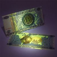 TARTADECO One Bitcoin Money Not Currency Paper Banknotes