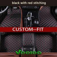 Veeleo 6 Colors Leather Custom Floor Mats for BMW 4 Series F33 Convertible -2 doors