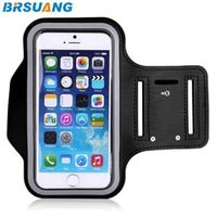 BRSUANG 50pcs/lot 4-inch Adjustable Waterproof Sports Jogging Armband Pouch