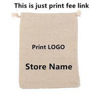 Linen Cotton/ Velvet/ Jute Bag print Logo fee need $33 (just print fee not including bag fee 500pcs ) this is only print fee